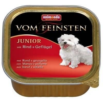 ANIMONDA Dog Vom Feinsten Junior skonis: jautiena su paukštiena 150g