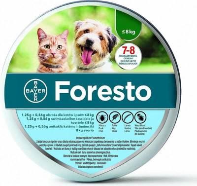 BAYER Foresto Antkaklis katėms ir šunims sveriantiems mažiau nei 8kg