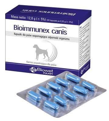 BIOWET Bioimmunex Canis 40 kapsulių