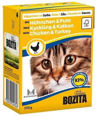 BOZITA Cat Viščiukas ir kalakutas padaže 370g