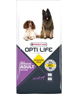 VERSELE-LAGA Opti Life Adult Active 12,5 kg - aktyviems šunims - su vištiena - visoms veislėms
