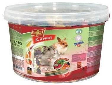 VITAPOL maistas triušiams ir žiurkėnams 2in1; 1,6 kg kibirėlis