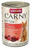 ANIMONDA Cat Carny Kitten skonis: jautiena, kalakutienos širdis 400g