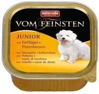 ANIMONDA Dog Vom Feinsten Junior skonis: paukštienos ir kalakutienos širdelės 150g