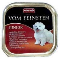 ANIMONDA Dog Vom Feinsten Junior skonis: vištienos kepenėlės 150g
