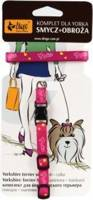 DINGO rinkinys - pavadėlis + Jorko apykaklė rožinės spalvos