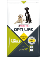VERSELE-LAGA Opti Life Adult Maxi 12,5 kg - su vištiena - didelėms veislėms