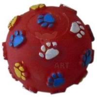 YARRO kamuolys su pėdų motyvu šuniui 6cm